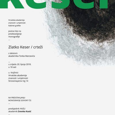 """Predstavljanje monografije: """"Zlatko Keser – crteži"""""""
