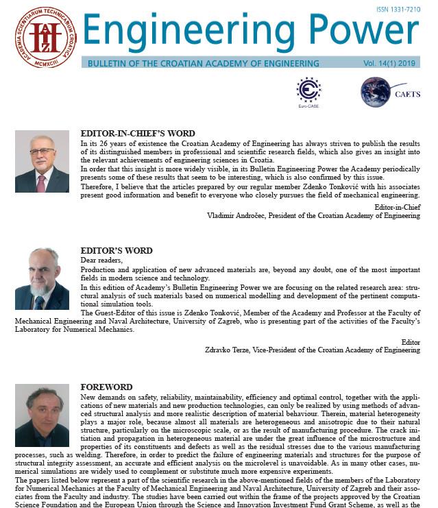 """""""Engineering Power"""" Vol. 14(1) 2019"""