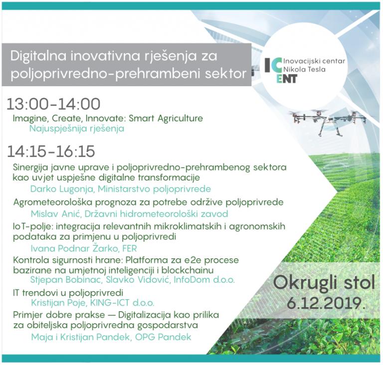 Digitalna inovativna rješenja za poljoprivredno-prehrambeni sektor