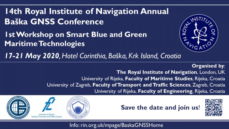 """HATZ supokrovitelj konferencije """"14th Baška GNSS Conference"""" – 17.-21. svibnja 2020."""