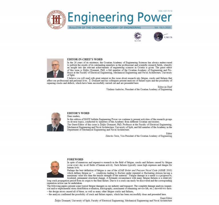 """Engineering Power"" Vol. 15(1) 2020"