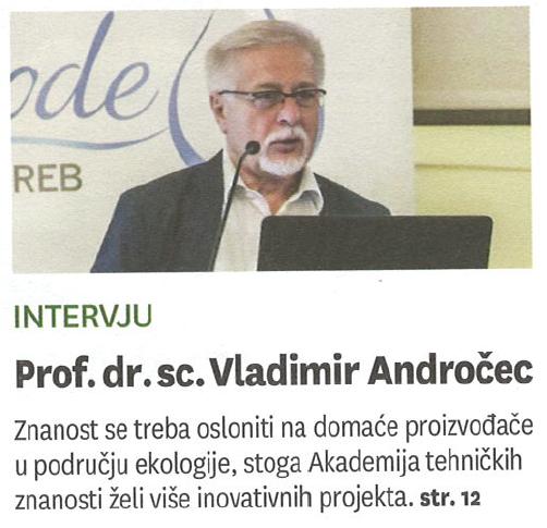 """Intervju prof. dr. sc. Vladimira Andročeca – """"Znanost se treba više osloniti na iskustva domaćih proizvođača!"""""""