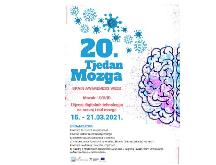 """Poziv na online predavanje povodom Tjedna mozga 2021: """"Možemo li mjeriti depresiju?"""""""