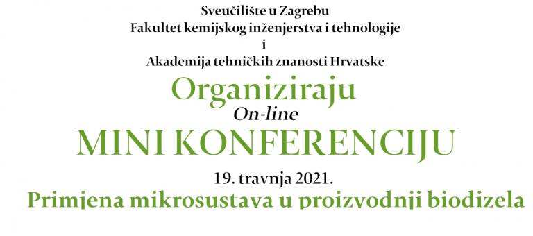 """Poziv Centra za zaštitu okoliša i održivih tehnologija na on-line mini konferenciju """"Primjena mikrosustava u proizvodnji biodizela"""""""