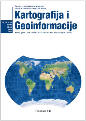 Časopis Hrvatskog kartografskog društva – Kartografija i Geoinformacije – Vol. 20, Br. 35