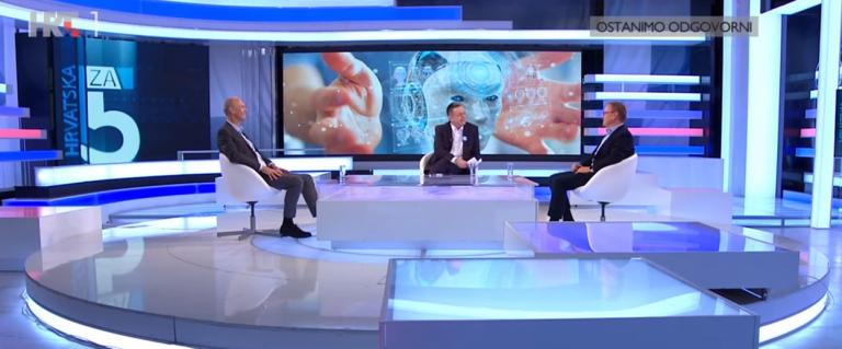 """HRT 1 """"Hrvatska za 5"""" – gosti emisije prof. dr. sc. B. Jerbić i prof. dr. sc. S. Lončarić"""